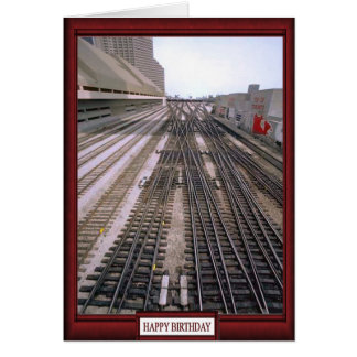 Trains and tracks -The rail ahead Card