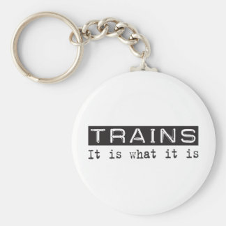 Trains It Is Keychain