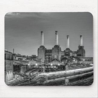 Trains pass Battersea Power Station, London Mouse Pad