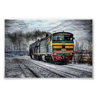 Trains Russian Diesel Train Poster