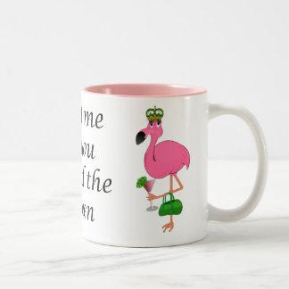 Traitez-moi comme vous le flamant de la Reine Mugs À Café