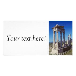 Trajan Temple columns in Pergamon, Turkey Personalized Photo Card