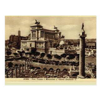 Trajan's forum and Memorial Vittorio Emanuele II Postcard