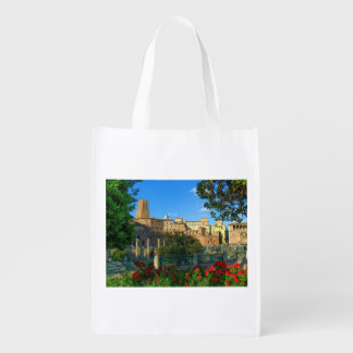 Trajan's forum, Traiani, Roma, Italy Reusable Grocery Bag