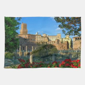 Trajan's forum, Traiani, Roma, Italy Towels