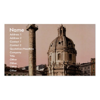 Trajan's Pillar, Rome, Italy classic Photochrom Pack Of Standard Business Cards