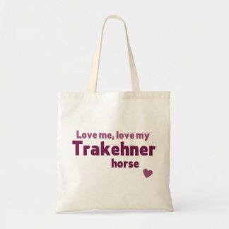 Trakehner horse tote bag