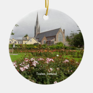 Tralee Ireland, Rose Garden, Town Park Ceramic Ornament
