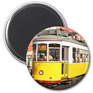 Tram 28, Lisbon, Portugal 2 Inch Round Magnet