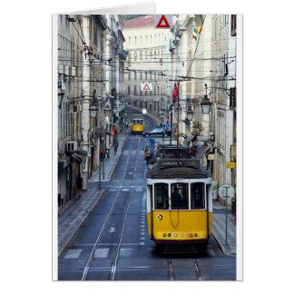 Tram 28, Lisbon, Portugal Card