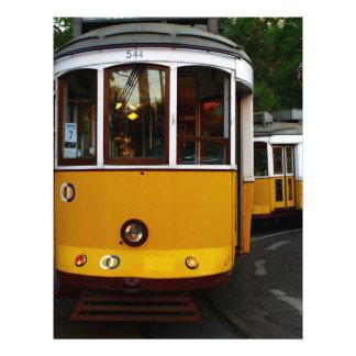 Tram 28, Lisbon, Portugal Letterhead Design