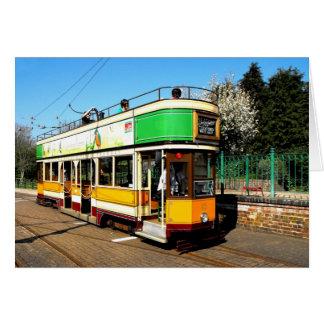 Tram at Colyton station, Devon Card