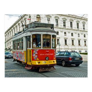 Tram in Lisbon, Portugal Postcard
