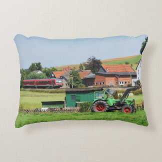 Tramcar in death living accent pillow
