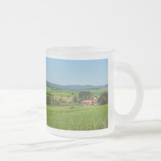 Tramcar in death living frosted glass coffee mug