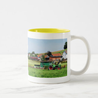 Tramcar in death living Two-Tone coffee mug