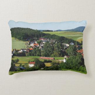 Tramcar in Niederwetter Decorative Pillow