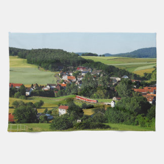 Tramcar in Niederwetter Kitchen Towel