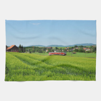 Tramcar in Simtshausen Kitchen Towel