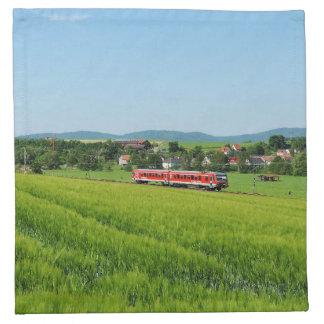 Tramcar in Simtshausen Napkin