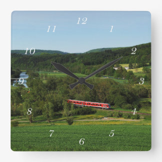 Tramcar with Ederbringhausen Square Wall Clock