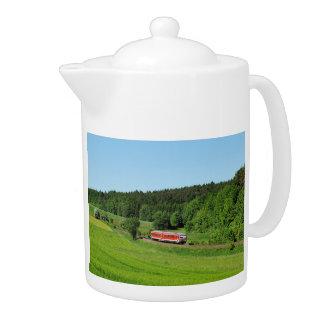Tramcar with meadow field