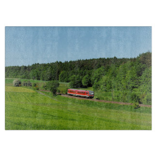 Tramcar with meadow field cutting board