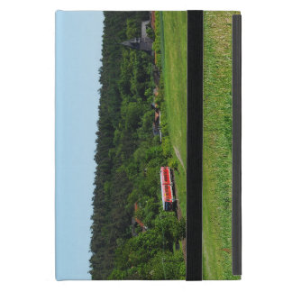 Tramcar with meadow field iPad mini case