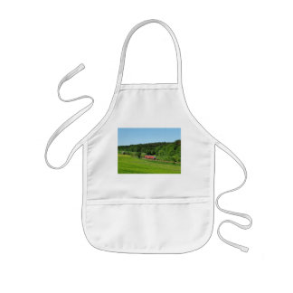 Tramcar with meadow field kids apron