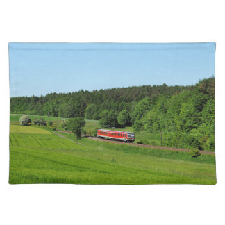 Tramcar with meadow field placemat