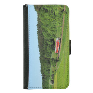 Tramcar with meadow field samsung galaxy s5 wallet case