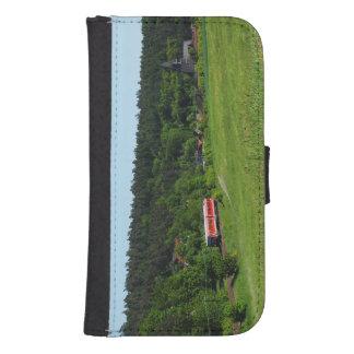Tramcar with meadow field samsung s4 wallet case