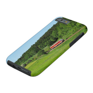 Tramcar with meadow field tough iPhone 6 case