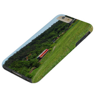 Tramcar with meadow field tough iPhone 6 plus case