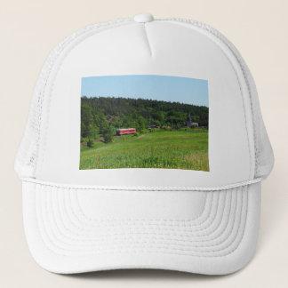 Tramcar with meadow field trucker hat
