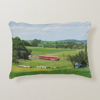 Tramcar with Muenchhausen Accent Pillow