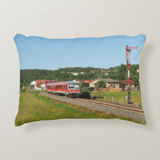 Tramcar with Muenchhausen Decorative Pillow