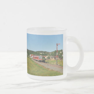 Tramcar with Muenchhausen Frosted Glass Coffee Mug