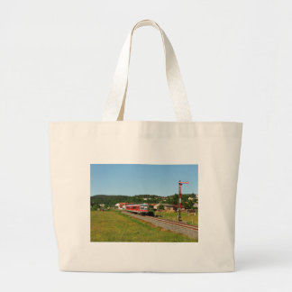 Tramcar with Muenchhausen Large Tote Bag