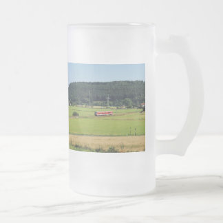 Tramcar with Sarnau Frosted Glass Beer Mug