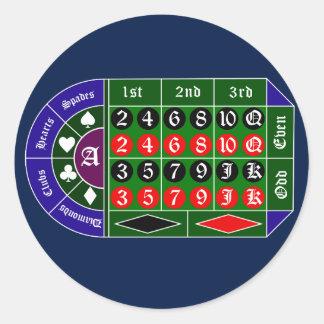 Tramp roulette classic round sticker