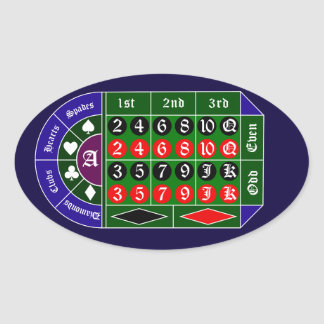 Tramp roulette oval sticker