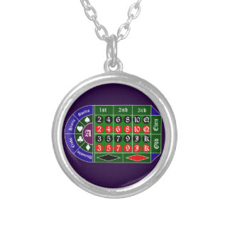 Tramp roulette silver plated necklace