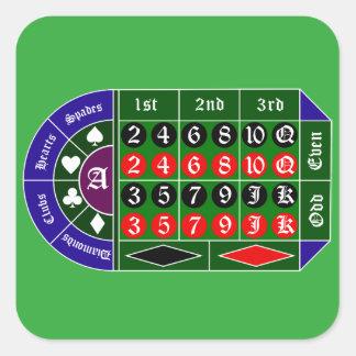 Tramp roulette square sticker