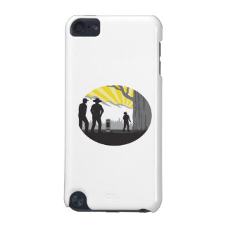 Trampers Mile Marker Giant Tree Oval Woodcut iPod Touch 5G Covers