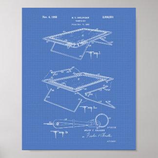 Trampoline 1958 Patent Art Blueprint Poster
