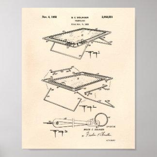 Trampoline 1958 Patent Art Old Peper Poster
