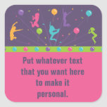 Trampoline Birthday Party Stickers for Girls 2