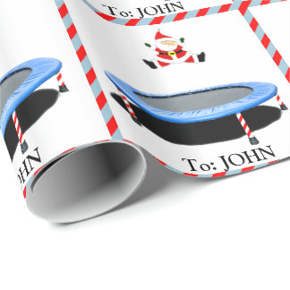 Trampoline Christmas Wrapping Paper