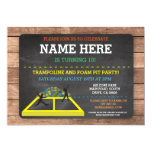 Trampoline Foam Pit Jump Party Birthday Fun Invite